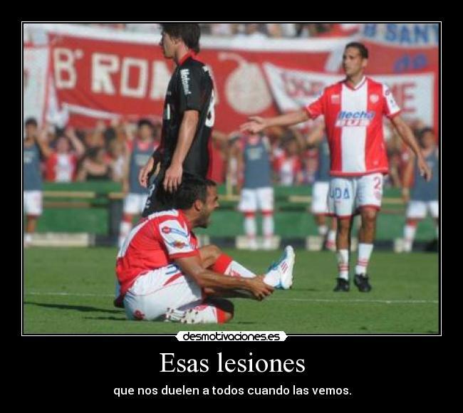 carteles futbol lesiones dolor desmotivaciones