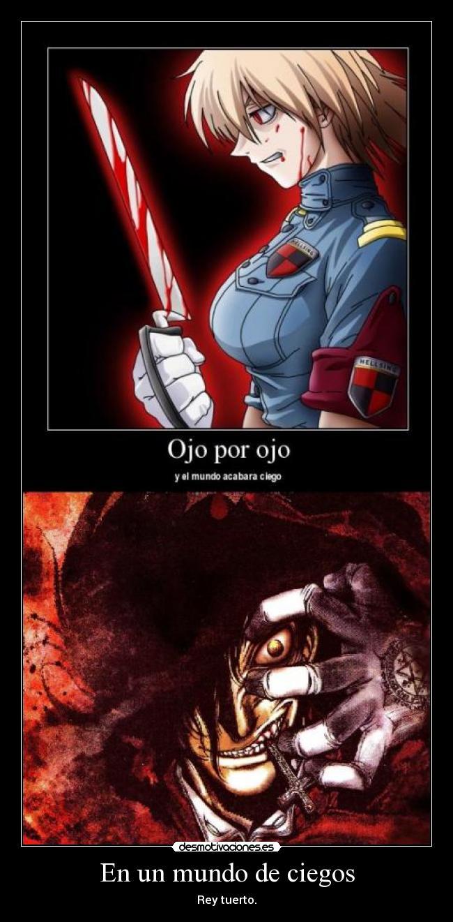 carteles mundo hellsing alucard anime manga anderson seras victoria desmotivaciones