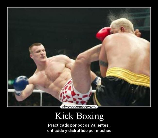 carteles kickboxing deporte contacto desmotivaciones