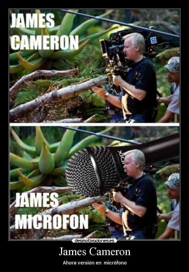 carteles james cameron microfon director cine desmotivaciones