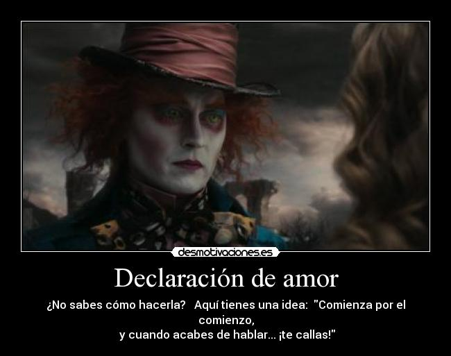 declaracion and and amor:
