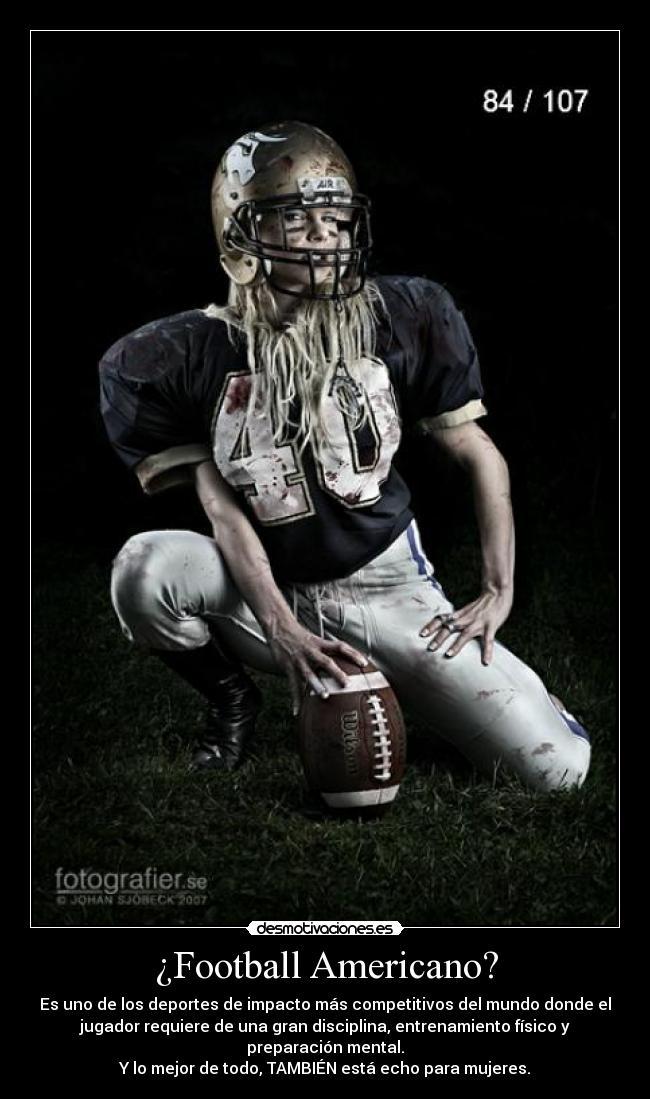 carteles football americano femenil desmotivaciones