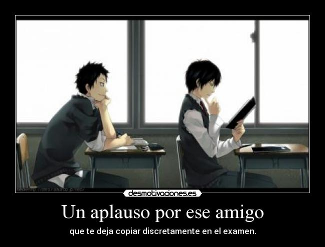 carteles anime copy exam nigatsu desmotivaciones