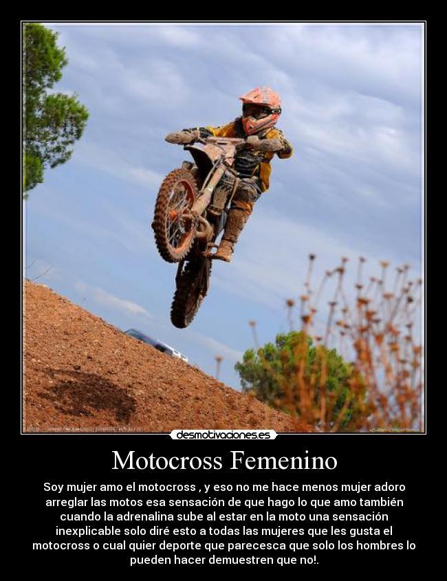 Motocross Femenino Desmotivaciones