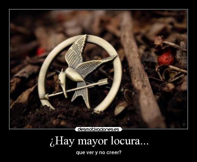 ¿Hay mayor locura... - que ver y no creer?