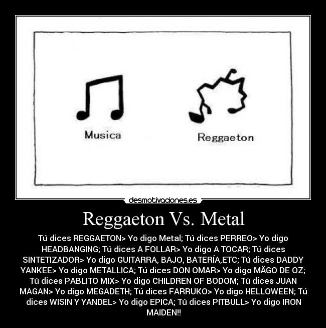 Reggaeton Vs  Metal