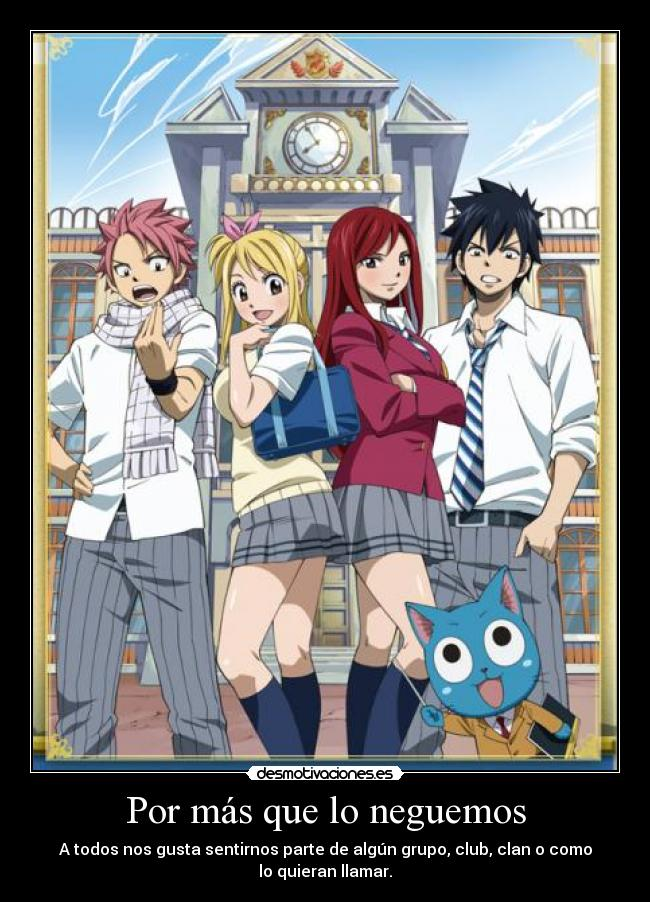 carteles theab3 says que cartel tan gay harukaze anime manga fairy tail natsu erza lucy gray happy desmotivaciones
