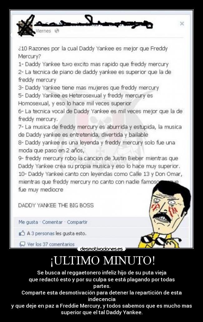 Muerte Daddy Yankee Tonto Que Insulto Freddie Desmotivaciones