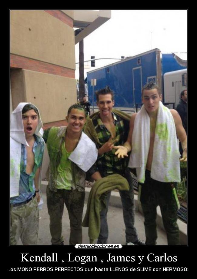 Kendall , Logan , James y Carlos - Los MONO PERROS PERFECTOS que hasta LLENOS de SLIME son HERMOSOS