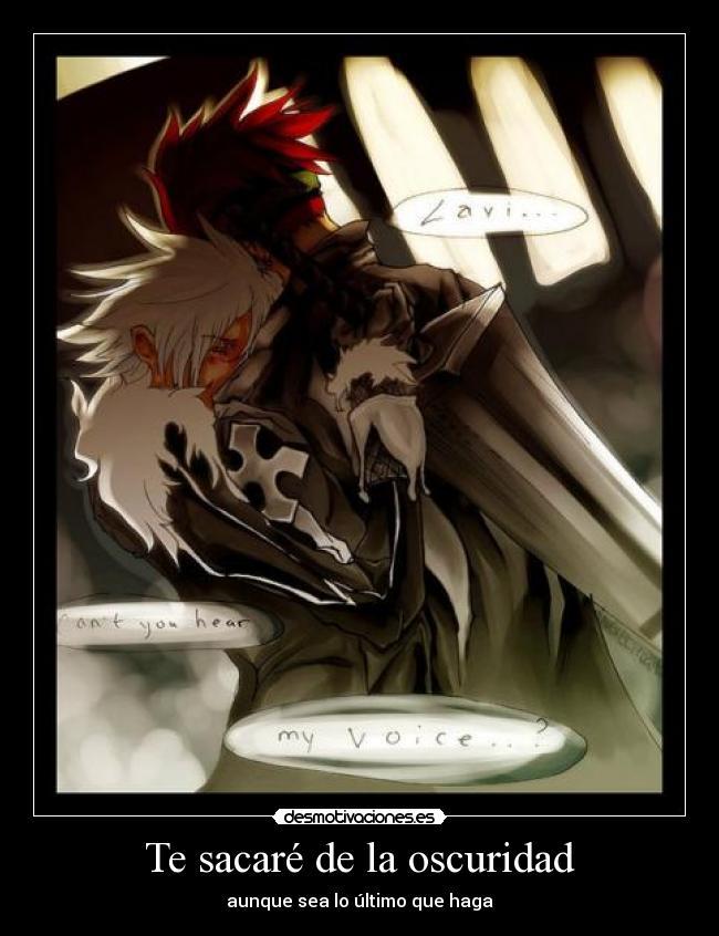 carteles anime gray man lavi allen oscuridad fanfic desmotivaciones