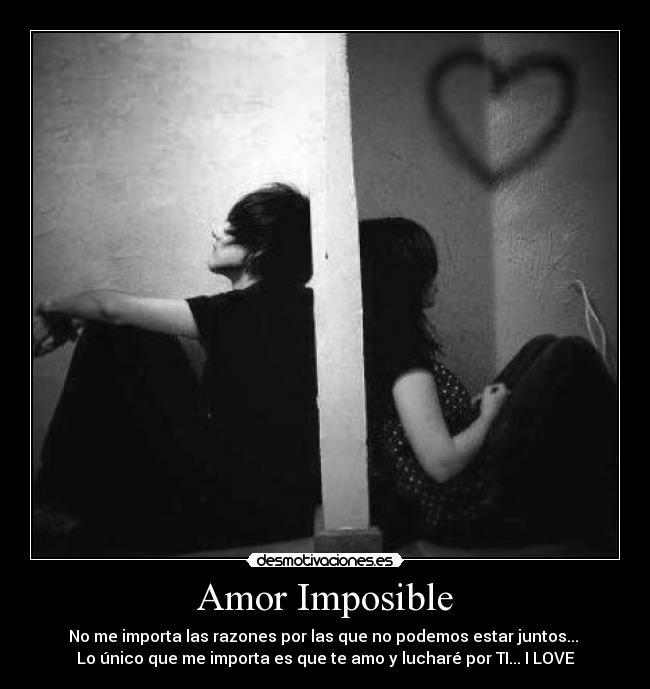 de amor imposible: