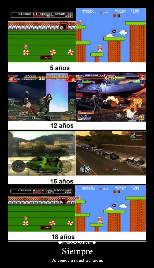 carteles super mario need for speed gta san andreas kof circus charlie desmotivaciones