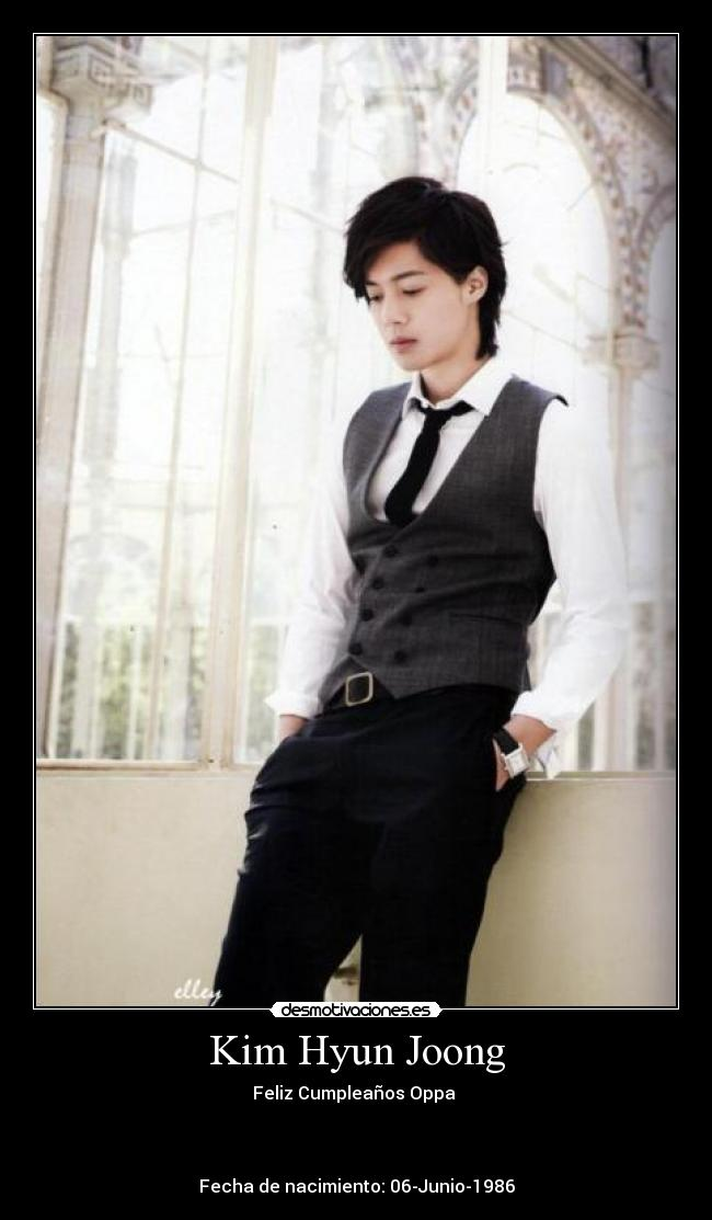 carteles kim hyun joong ss501 lider kpop oppa oppas desmotivaciones