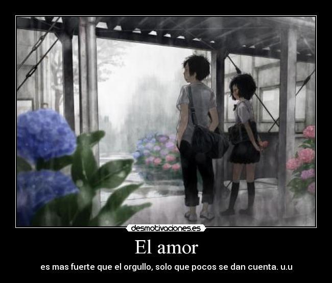 carteles amor anime mizu asato orgullo amor flores lluvia gris otaku manga love desmotivaciones