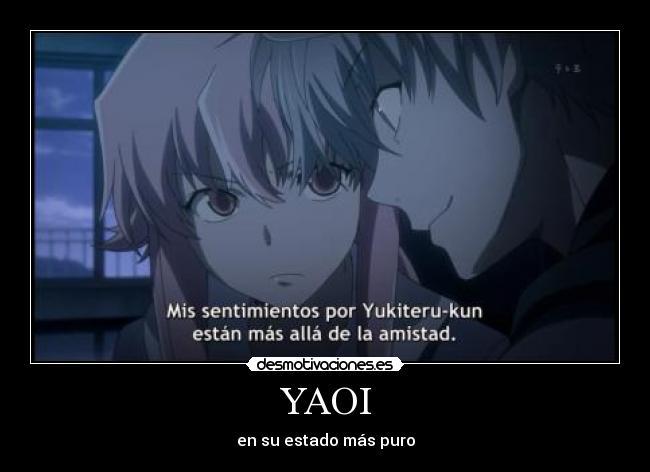carteles yaoi akise aru anime mirai nikki declaracion yukiteru hombre desmotivaciones