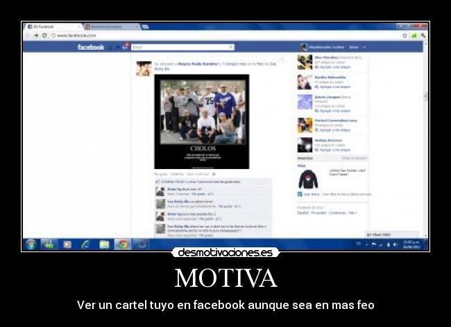 carteles facebook cholos shushi feo desmotiva motiva desmotivaciones