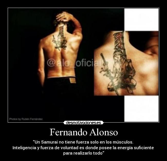 Tatuaje Fernando Alonso fernando alonso | desmotivaciones
