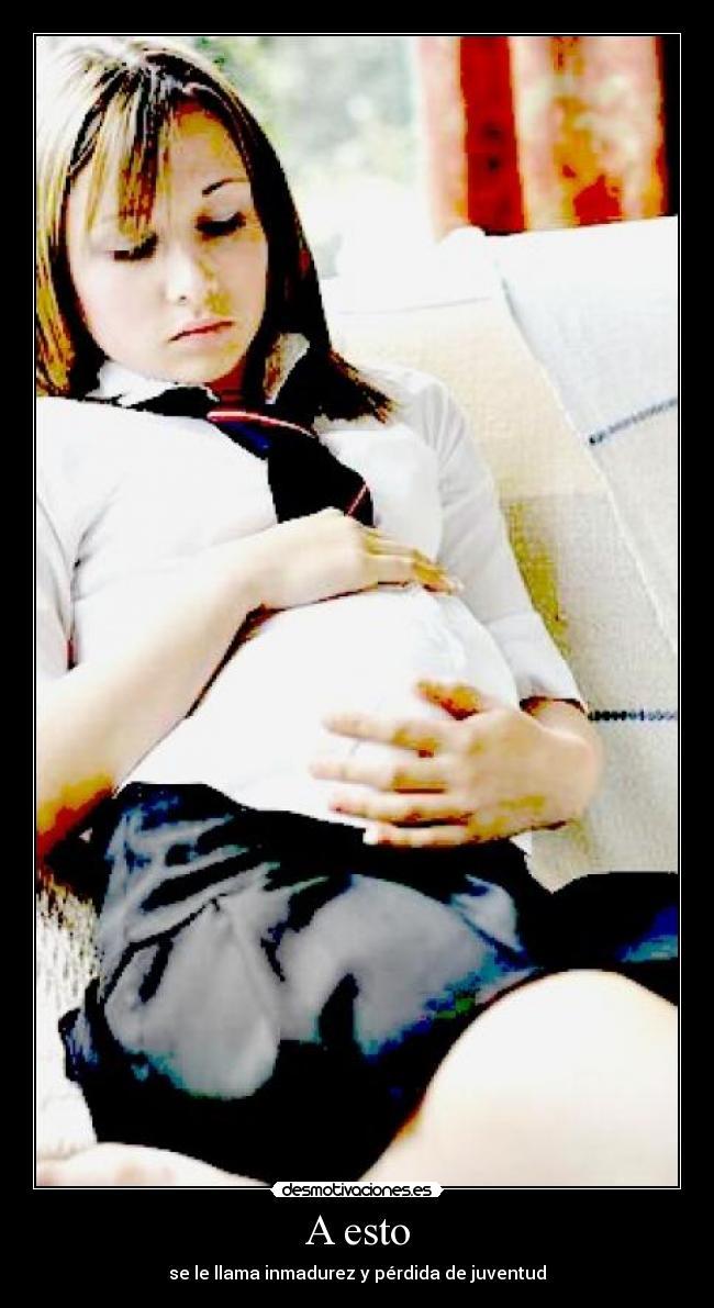 carteles jovenes embarazadas desmotivaciones