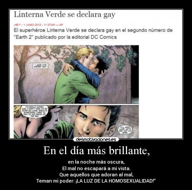 Linterna verde es homosexual
