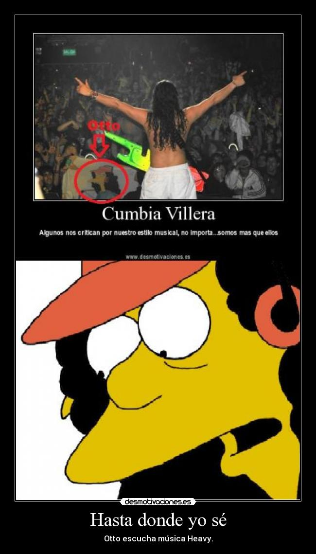 carteles cumbia villera sucks otto simpsons heavy deadsoul desmotivaciones