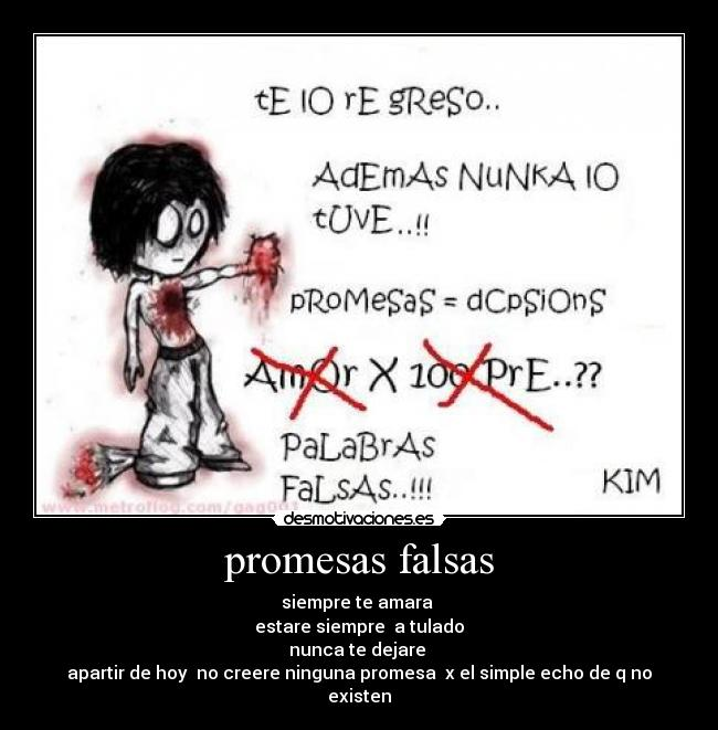 Promesas Falsas Desmotivaciones