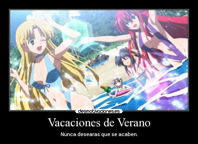 Trajes De Baño Verano Azul:carteles verano anime highschool dxd trajes bano vacaciones verano