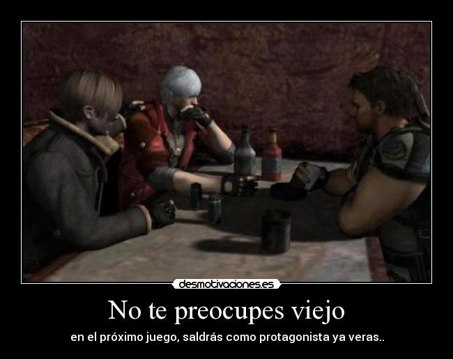 carteles anime video game crossover resident evil devil may cry desmotivaciones