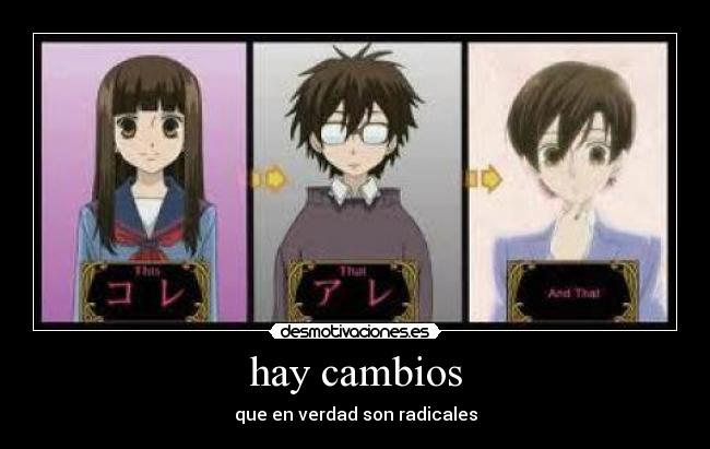 carteles anime ouran high school host club blackwarwreymon desmotivaciones