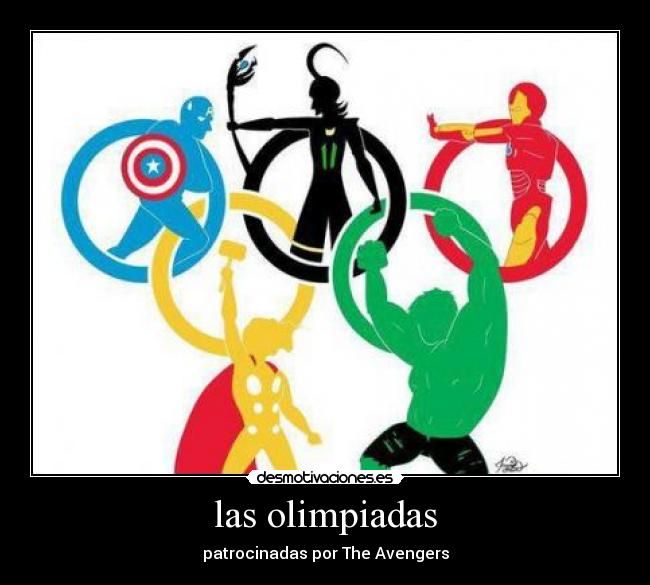 carteles olimpiadas avengers the chistosas desmotivaciones