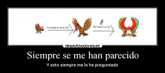 carteles pokemon spearow fearow hooh desmotivaciones