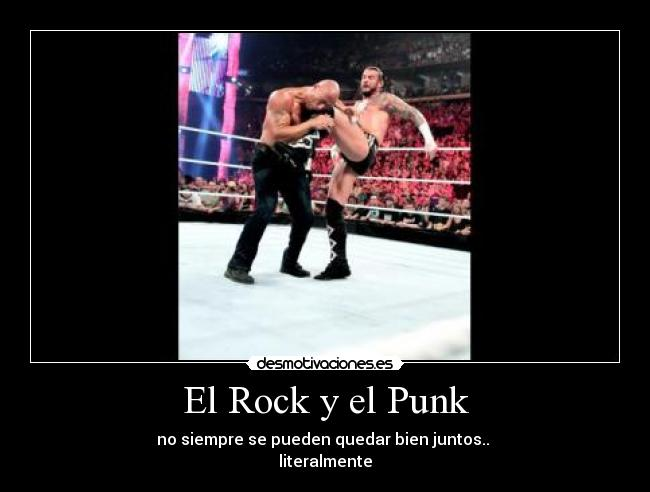 Carteles Rock Wwe Raw Smackdown Punk Cmpunk The Rock Therock Dwayne