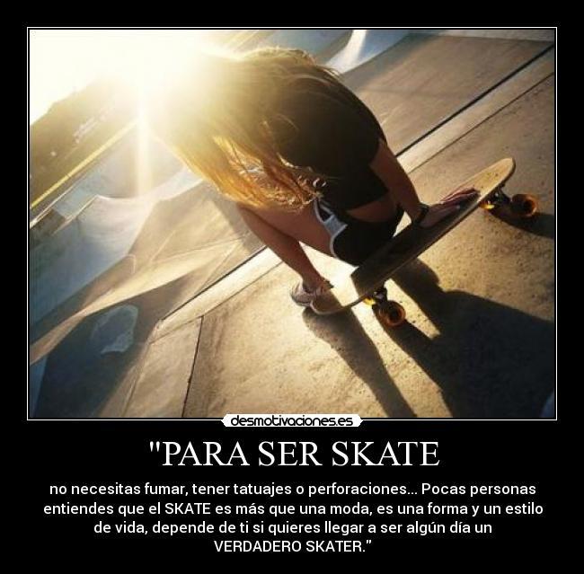carteles skate girl desmotivaciones