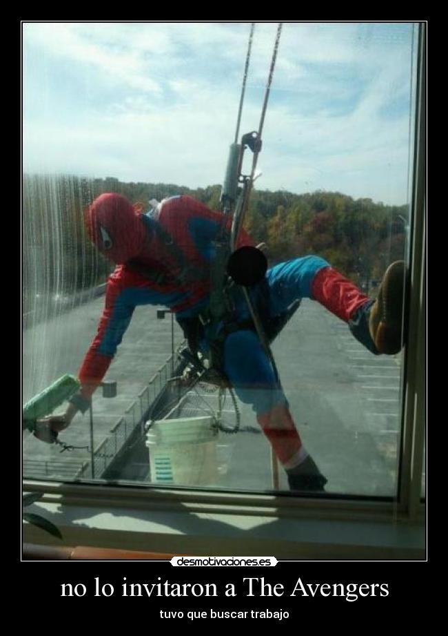 carteles spiderman avengers jajaja risa chistosas desmotivaciones