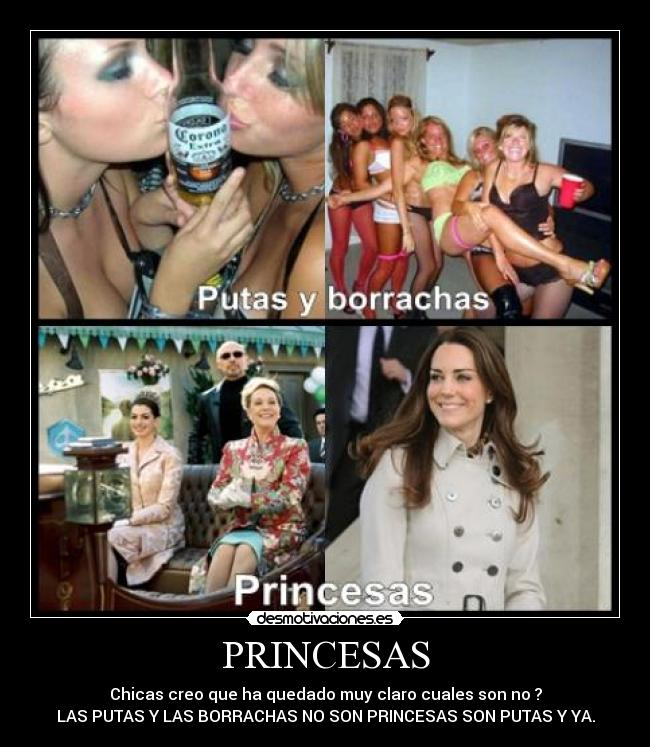 carteles princesas borrachas chicas putas desmotivaciones