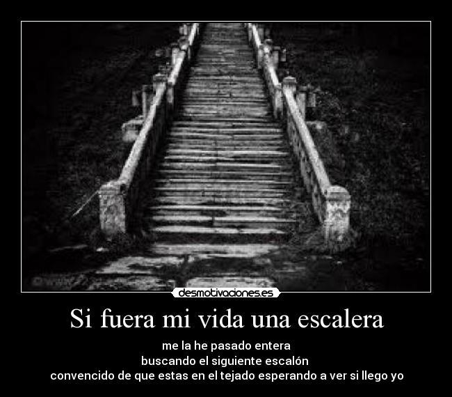 Si Fuera Mi Vida Una Escalera Desmotivaciones