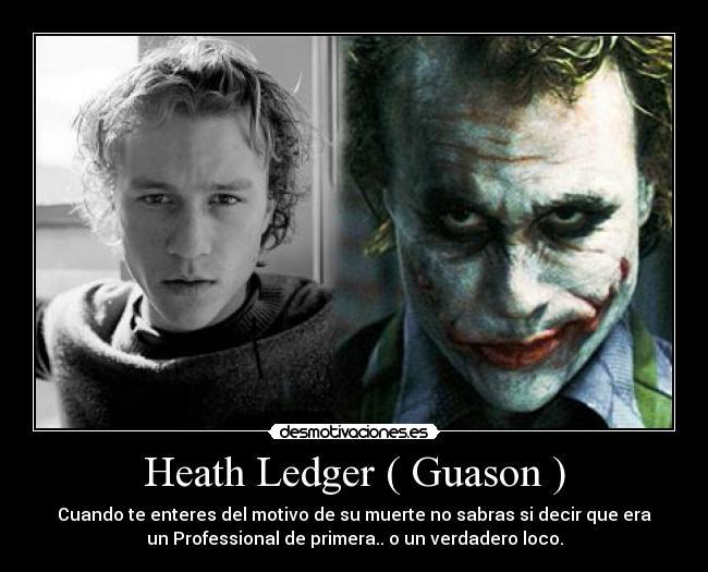 Heath Ledger ( Guason ) | Desmotivaciones