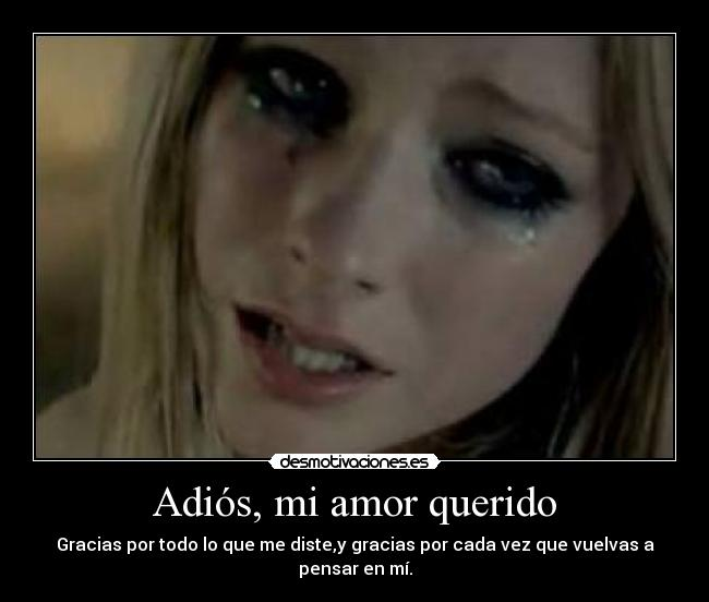 Adi s mi amor querido desmotivaciones for Cancion adios jardin querido