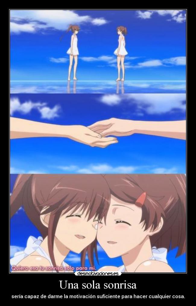 carteles sonrisa raptorhunters nigatsu harukaze anime kissxsis sonrisa ako riko hermanas gemelas desmotivaciones