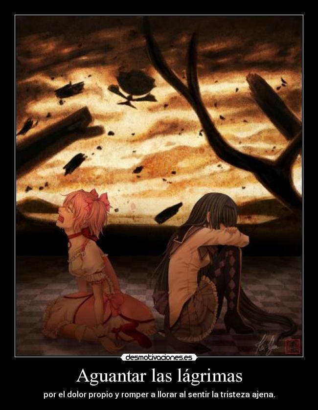 carteles llorar dolor sufrir amigos tristeza lagrimas romper silencio anime desmotivaciones