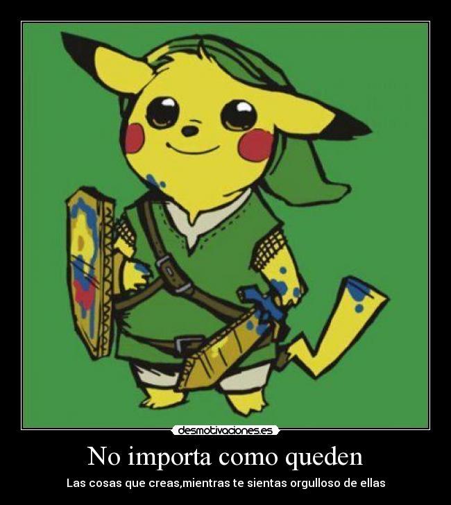 carteles pikachu link kawaii videojuegos hola kudohaunter kuperman metalheadgirl desmotivaciones