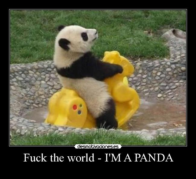 Fuck the world - IM A PANDA -