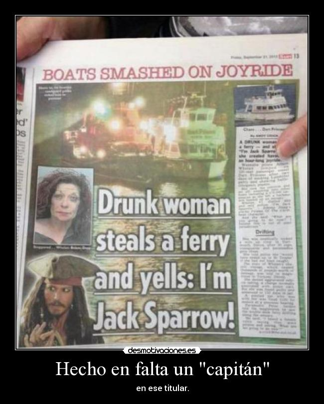 carteles prensa capitan jack sparrow feel like pirate pirata desmotivaciones