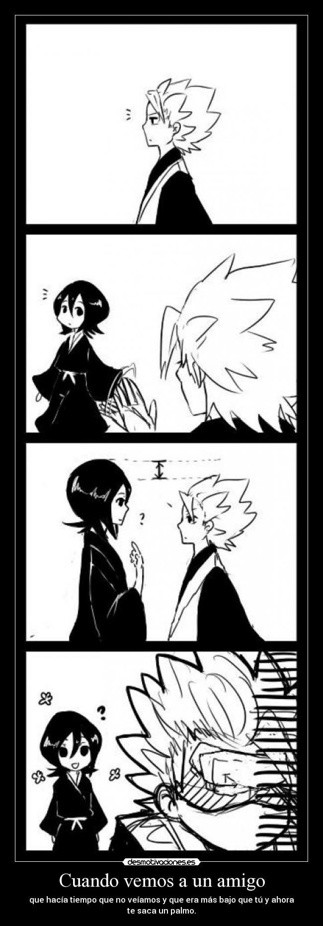 carteles anime manga bleach rukia kuchiki toshiro hitsugaya desmotivaciones