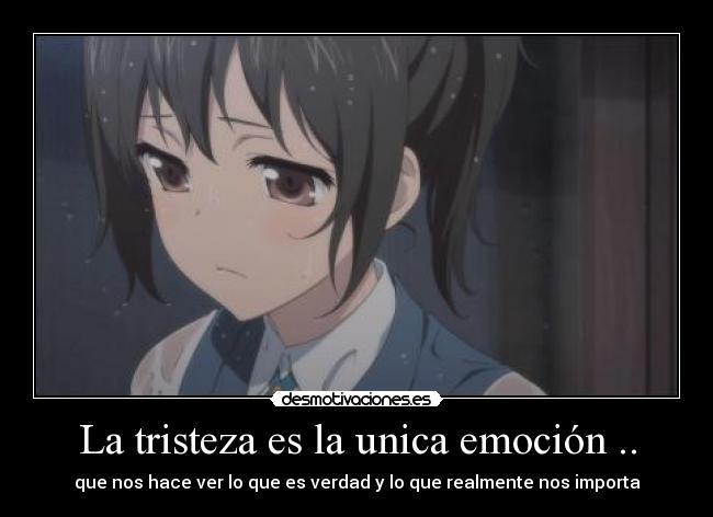 La tristeza es la unica emoción .. | Desmotivaciones