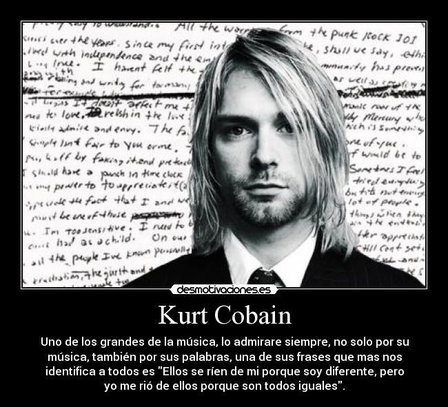 Kurt Cobain Desmotivaciones