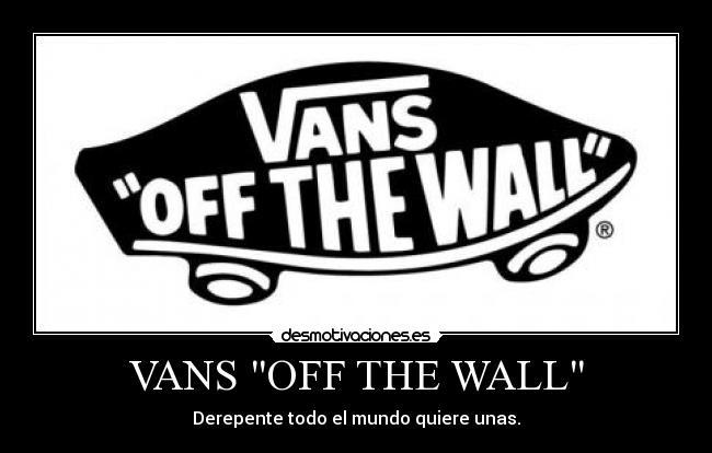 vans off the wall significado