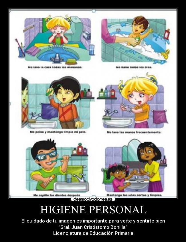 Carteles De Higiene Personal