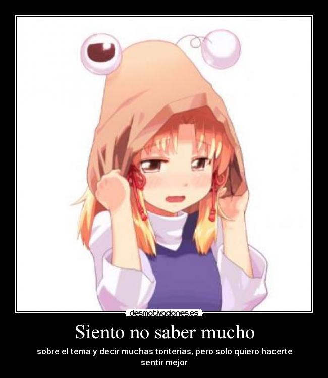carteles touhou suwako llorar anime manga kawaii lolita solo quiero hacerte  sentir mejor desmotivaciones