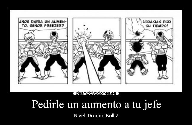 carteles secuaces freezer dragon ball multiverse desmotivaciones