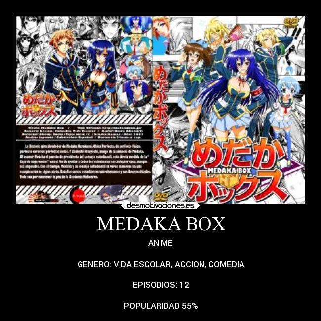 carteles anime medaka box desmotivaciones